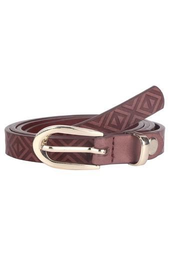 Womens Leather Buckle Closure Casual Belt