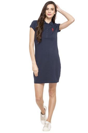 7a03db1f2e Buy U.S. POLO ASSN. Womens Solid T-Shirt Dress   Shoppers Stop