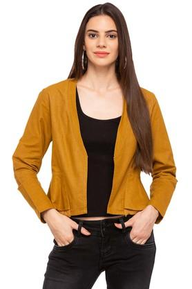 MINERAL Womens Open Front Solid Jacket