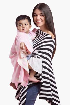 PLUCHINursing Poncho With Heart Baby Blanket