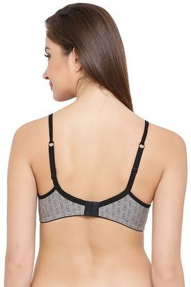 Womens Printed Non Wired Non Padded Demi Cup Bra