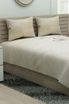 D'D�CORPrinted Double Bed Sheet With Pillow Cover