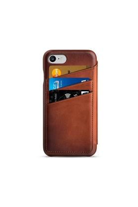 Leather Phone Cover for iPhone 8 and 7 with Flip Cover and Card Slots