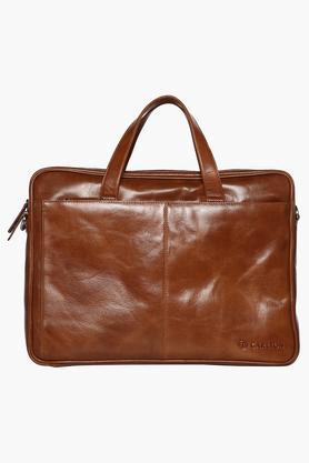Unisex Zipper Closure Laptop Satchel Bag