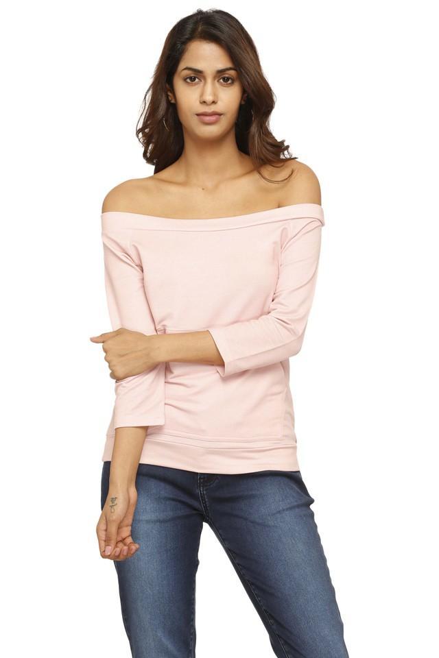 Womens Off Shoulder Neck Solid Sweatshirt