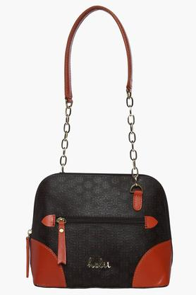 HOLIIWomens Zipper Closure Kingston Shoulder Handbag