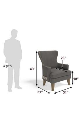 Self Pattern Upholster Wing Chair with 6 Amp Modular Switch