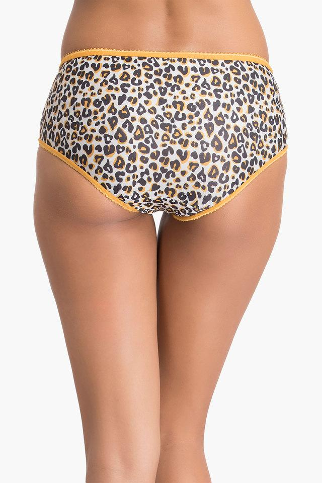 Womens Mid Waist Printed Hipsters