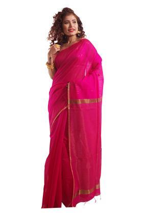 Women Line Zari Booti Saree