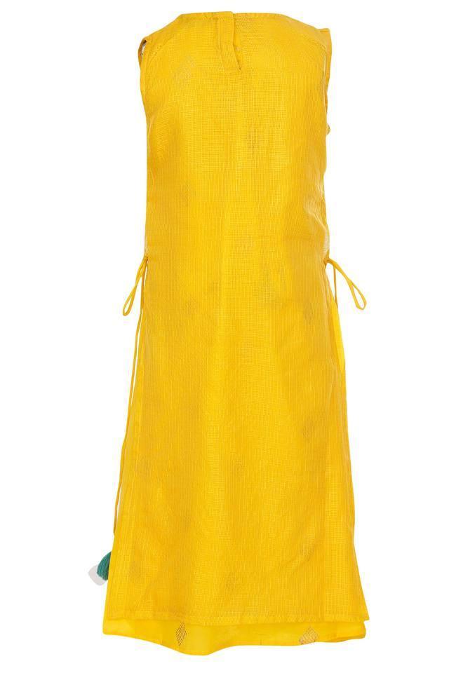 Girls Round Neck Printed Gown