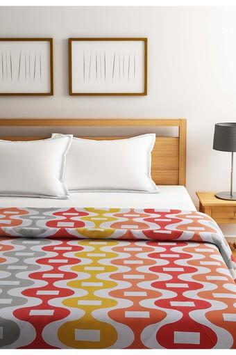 Orange and White Geometric Single AC Comfortor