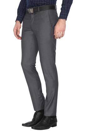Mens 4 Pocket Slub Formal Trousers (Travelog)