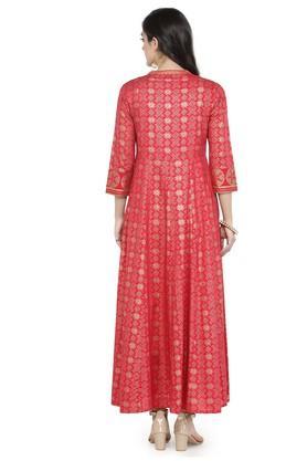 Women Rayon Printed A-line dress