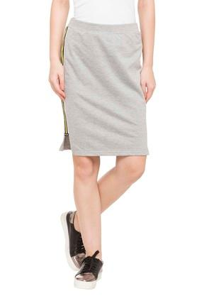 NUSH Womens Slub Casual Skirt - 203923149_9217