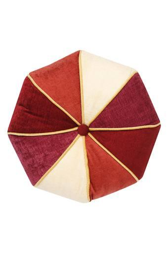 Colour Block Round Cushion Cover