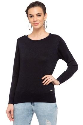 VAN HEUSENWomens Round Neck Printed Sweater