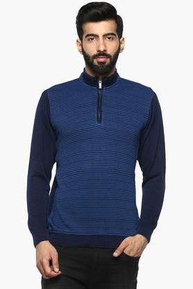 MONTE CARLO Mens High Neck Colour Block Pullover