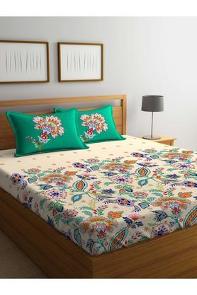 PORTICO Floral Printed Double Bed Sheet With Pillow Cover - 203990092_9900
