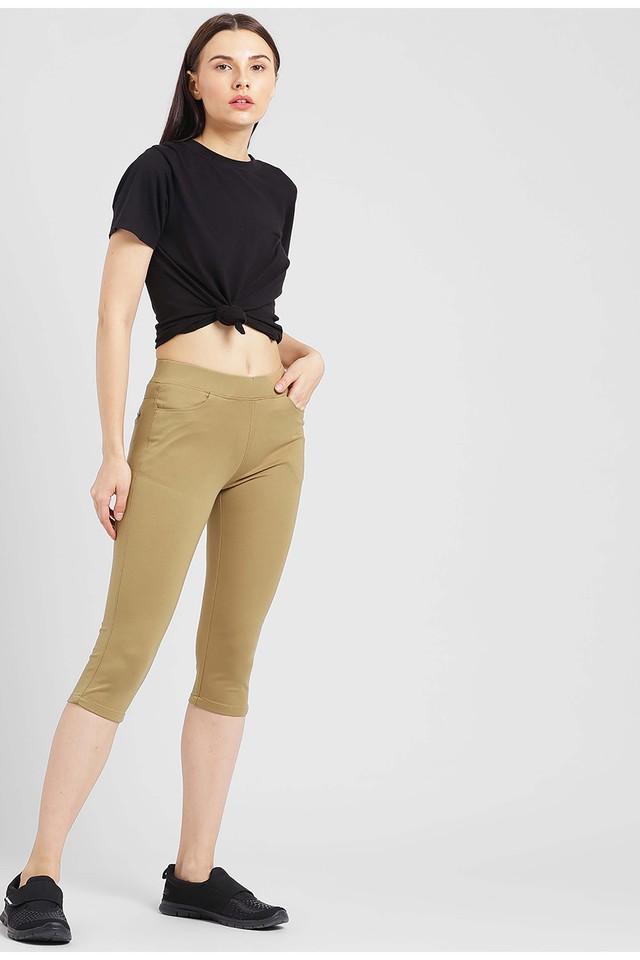 Womens 4 Pocket Coated Capris