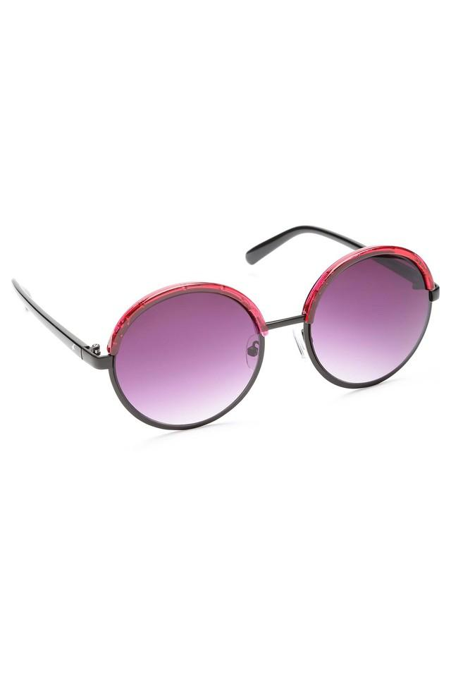 Womens Round Polycarbonate Sunglasses