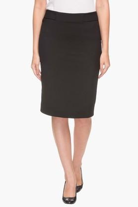 VAN HEUSEN Womens Solid Knee Length Skirt - 202951825