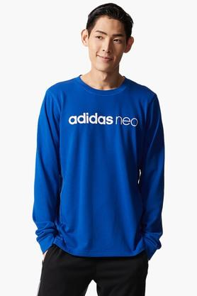 ADIDAS Mens Round Neck Solid T-Shirt - 203005945