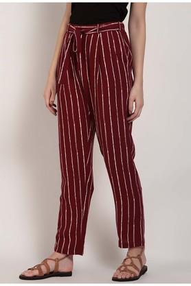 Womens 2 Pocket Stripe Pants