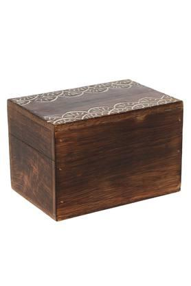 BACK TO EARTHKashtha Burnt Wood Trinket Decorative Storage Box