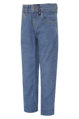 Boys 5 Pocket Washed Jeans