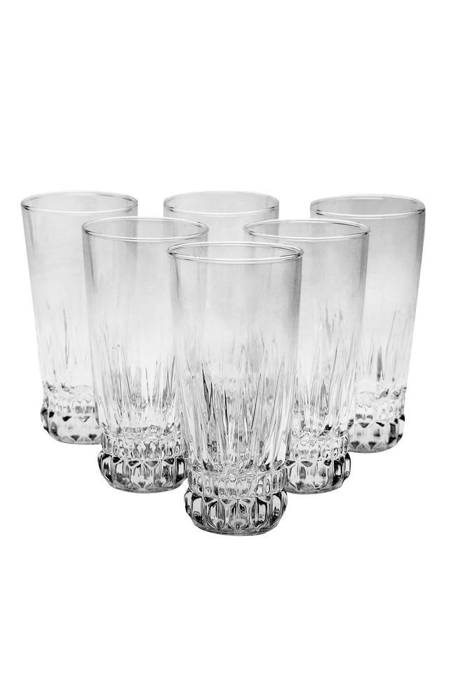 Round Crystal Glass Set of 6