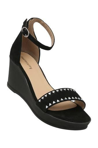 HAUTE CURRY -  Black Platform & Wedges - Main