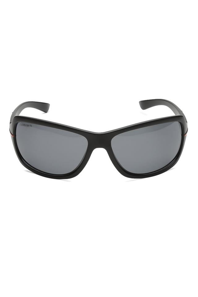 Mens Wrap Round UV Protected Sunglasses - NBP321BK2P