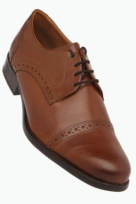 VENTURINI Mens Leather Lace Up Derbys - 203017962_9130