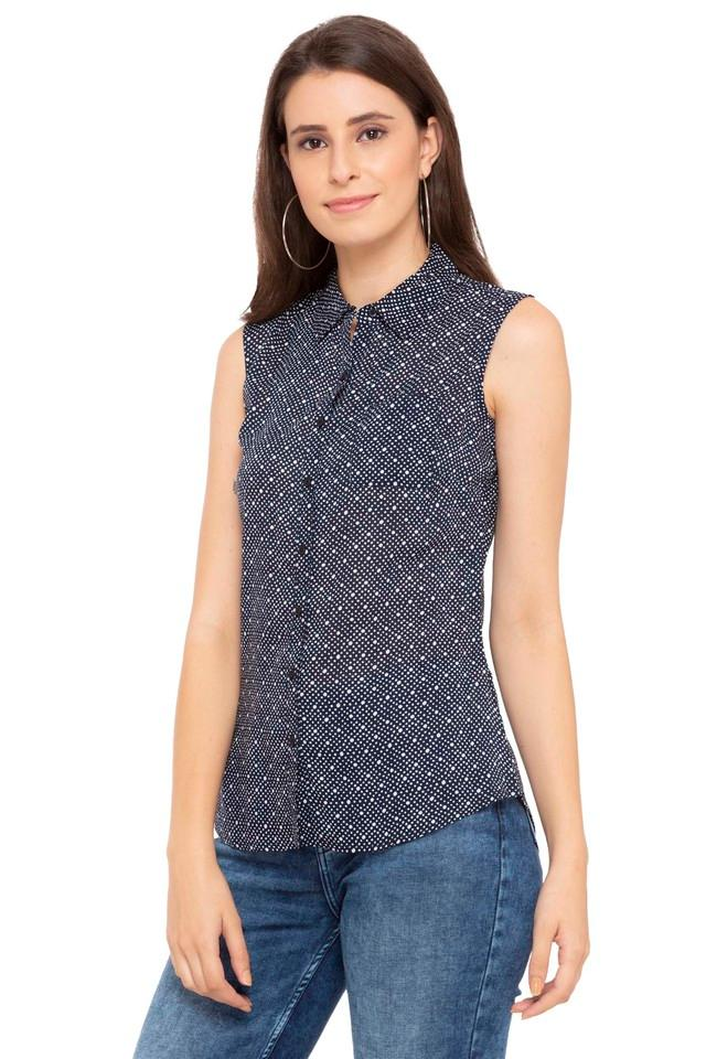 Womens Dot Pattern Casual Shirt