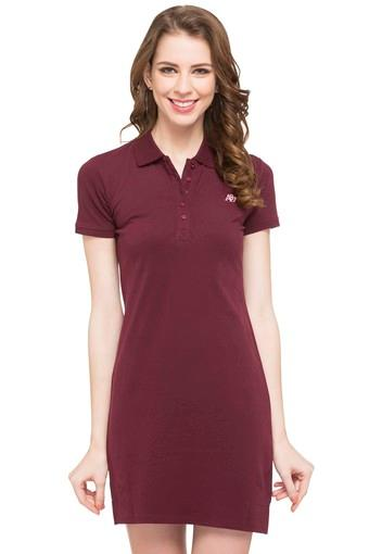 d363e299413 Buy AEROPOSTALE Womens Polo Neck Solid T-Shirt Dress