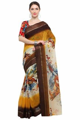 RACHNA Womens Art Silk Digital Printed Saree With Blouse - 204088363_7086