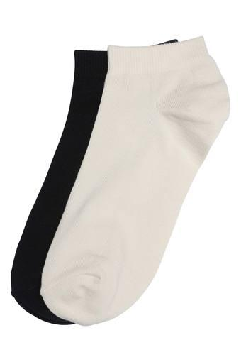 Womens Solid Socks - Pack Of 2