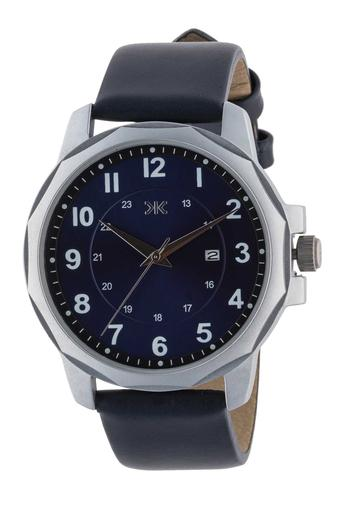 Mens Blue Dial Leather Analogue Watch - KLM122C