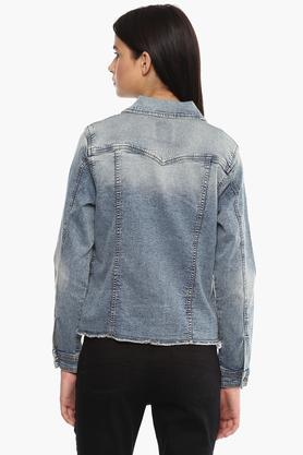 Womens Washed Casual Jacket