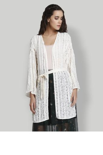 Womens Open Front Lace Shrug