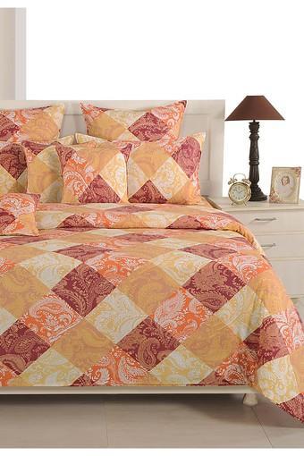 Orange and Brown Floral Single AC Comfortor
