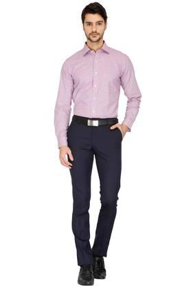 Mens 4 Pocket Solid Formal Trouser