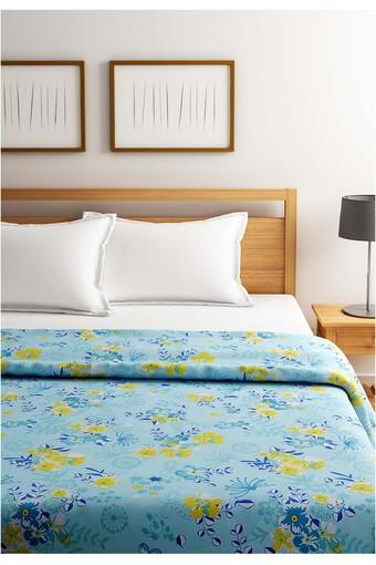 Turquoise and Yellow Floral Single AC Comfortor