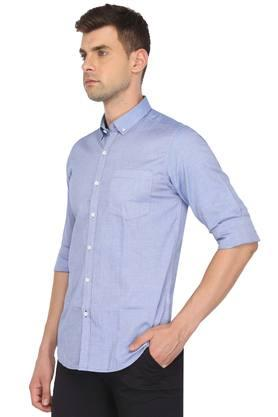 Mens Buttondown Collar Slub Shirt