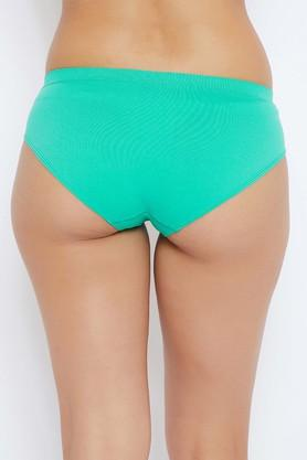 Womens Mid Waist Solid Hipster Briefs - Pack Of 3