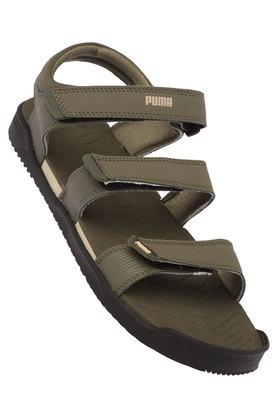 PUMA Mens Synthetic Leather Velcro Closure Sandals - 203898245_9465