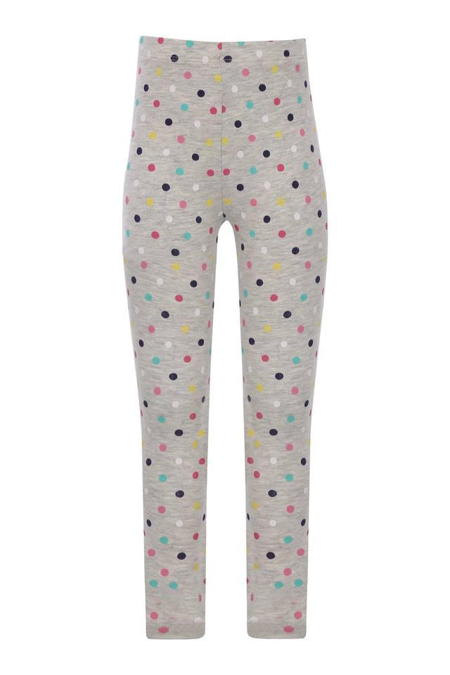 Girls Dot Pattern Casual Leggings