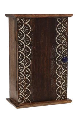 BACK TO EARTHKashtha Burnt Wood Trinket Key Box