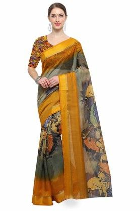 RACHNA Womens Art Silk Digital Printed Saree With Blouse - 204088366_7086