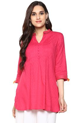 RANGRITI Womens Straight Cotton Indie Kurti